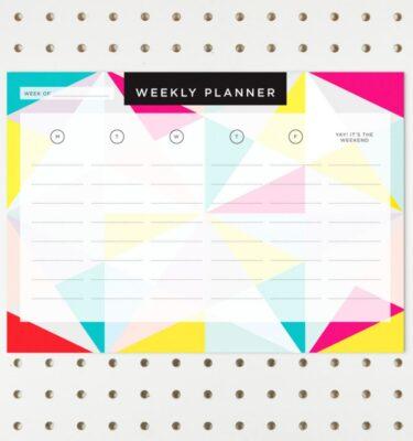 geometric weekly planner