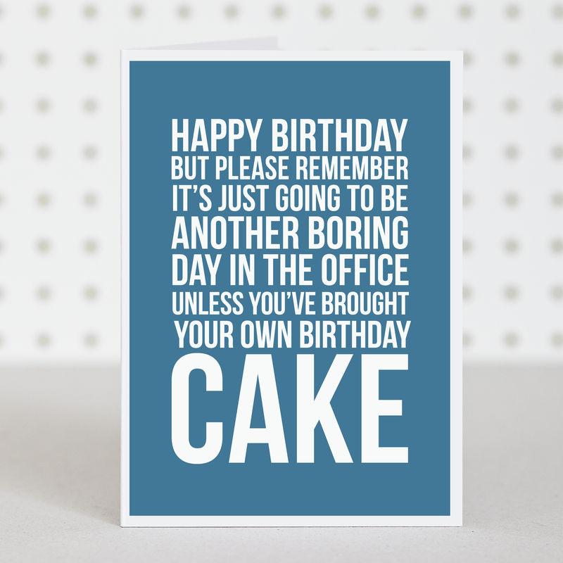 Office Cake' Birthday Card | doodlelove