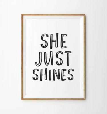 she shines bw