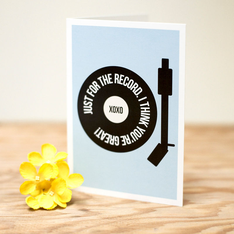 Just For The Record Greetings Card