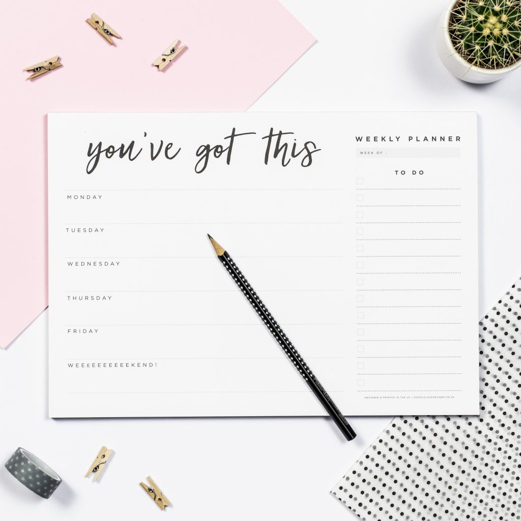 You've Got This Weekly Planner Pad – doodlelove