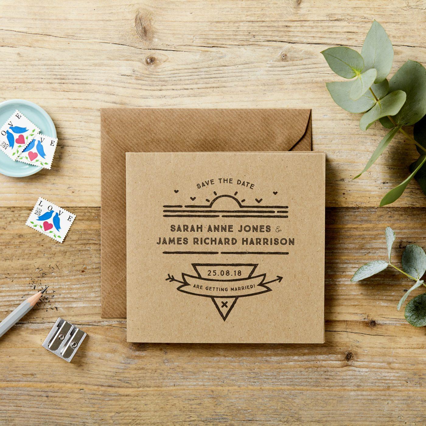 Rustic Foldout Wedding Invitation Poster doodlelove