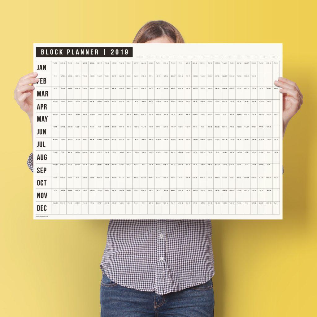 2019 block wall planner doodlelove for For planner